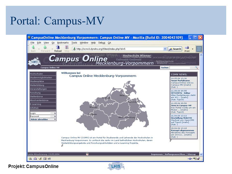 LHIS Projekt: CampusOnline Portal: Campus-MV