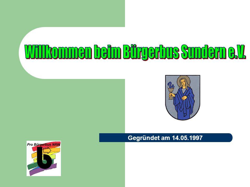 Gründungsinitiative Mitglieder des Rates der Stadt Sundern hatten die Idee zur Gründung eines Bürgerbus Vereins.