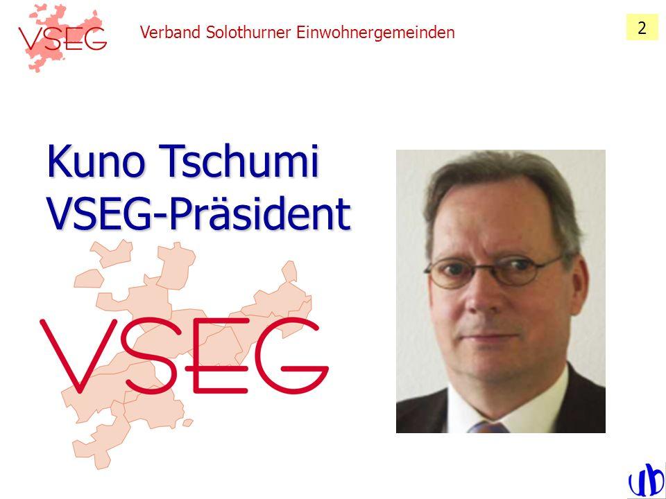 Verband Solothurner Einwohnergemeinden 3 Kuno Tschumi VSEG-Präsident Standpunkte