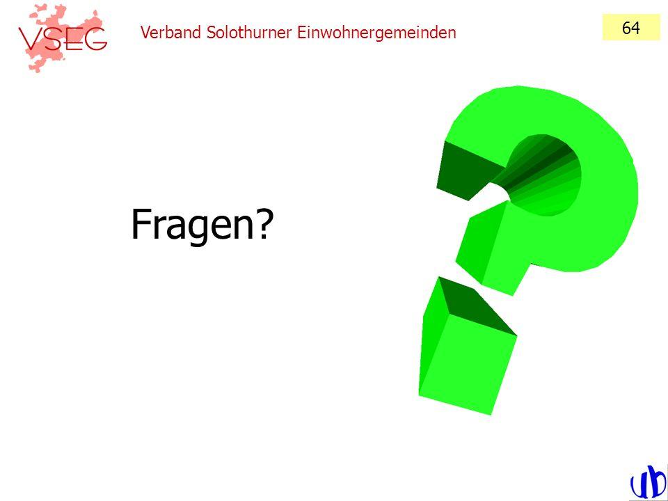 Verband Solothurner Einwohnergemeinden 64 Fragen?