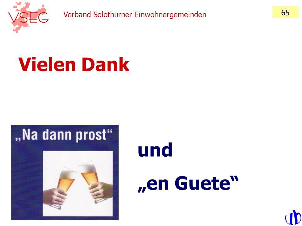 Verband Solothurner Einwohnergemeinden 65 Vielen Dank und en Guete