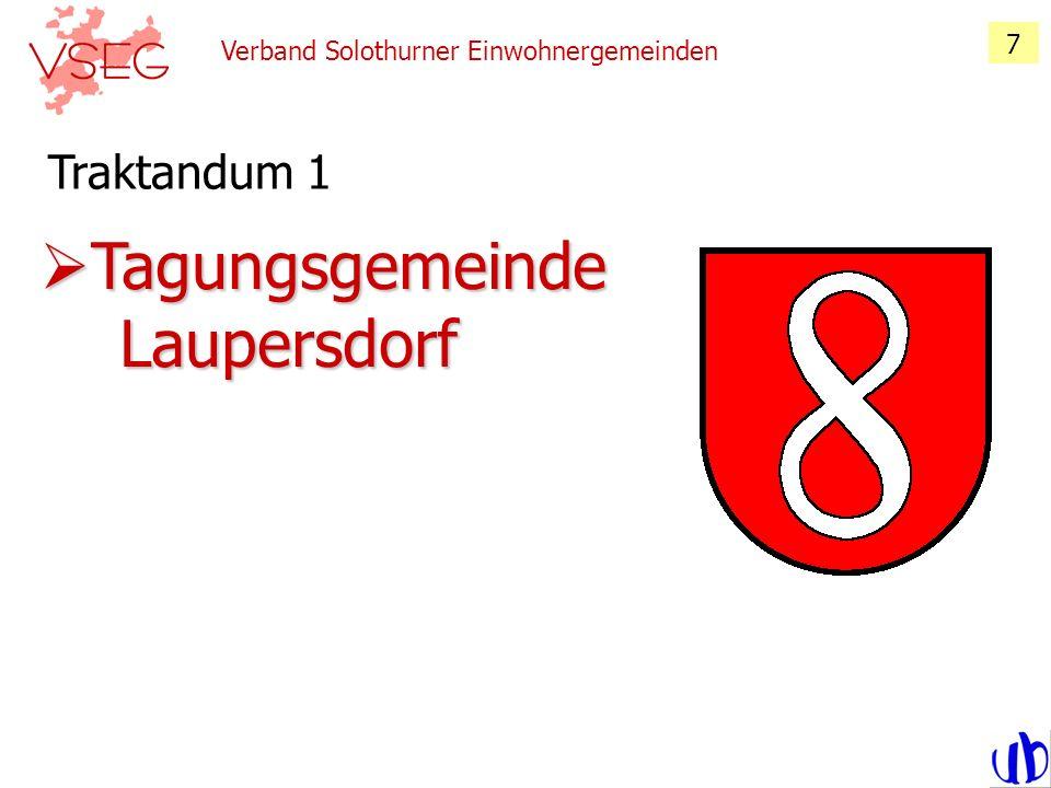 Verband Solothurner Einwohnergemeinden 18 Traktandum 2, Ergänzungen der Geschäftsstelle Du fast nix mitbestimmen aber du trotzdem bald sehr viel zahlen!