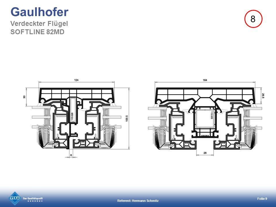 Referent: Hermann Schmitz Folie 10 Gaulhofer Verdeckter Flügel SOFTLINE 82MD 8