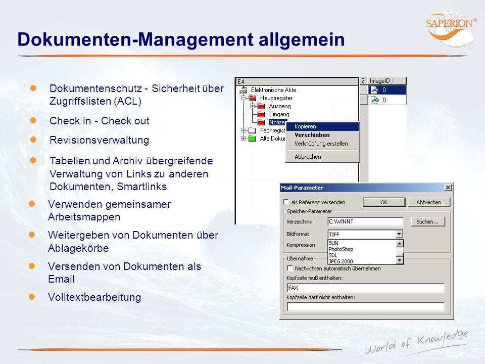 Dokumenten-Management allgemein Verwenden gemeinsamer Arbeitsmappen Weitergeben von Dokumenten über Ablagekörbe Versenden von Dokumenten als Email Vol