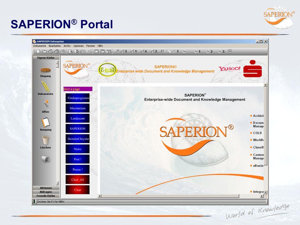 SAPERION ® Portal