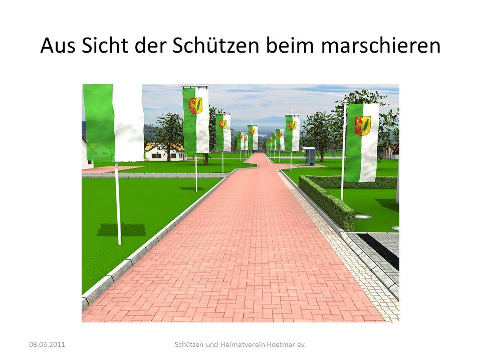 Aus Sicht der Schützen beim marschieren 08.03.2011Schützen und Heimatverein Hoetmar ev.