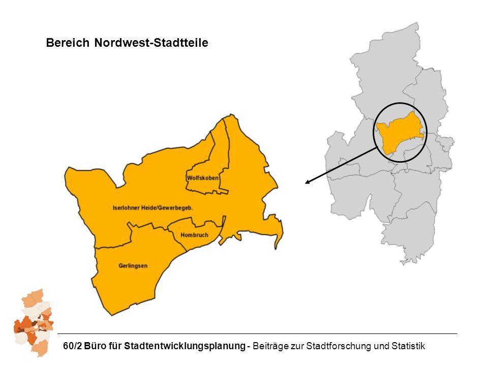 60/2 Büro für Stadtentwicklungsplanung - Beiträge zur Stadtforschung und Statistik Bereich Nordwest-Stadtteile