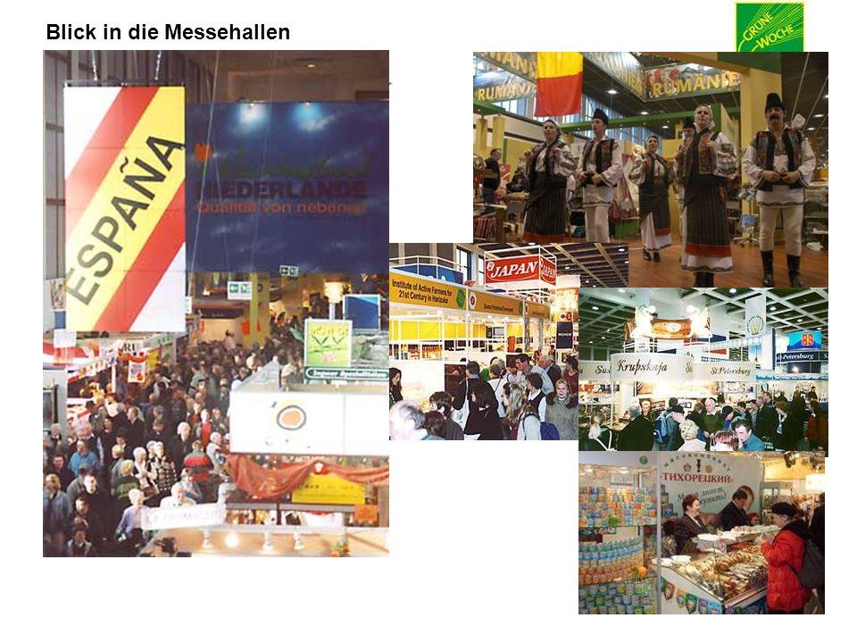 15. – 24. Januar 2010 Blick in die Messehallen