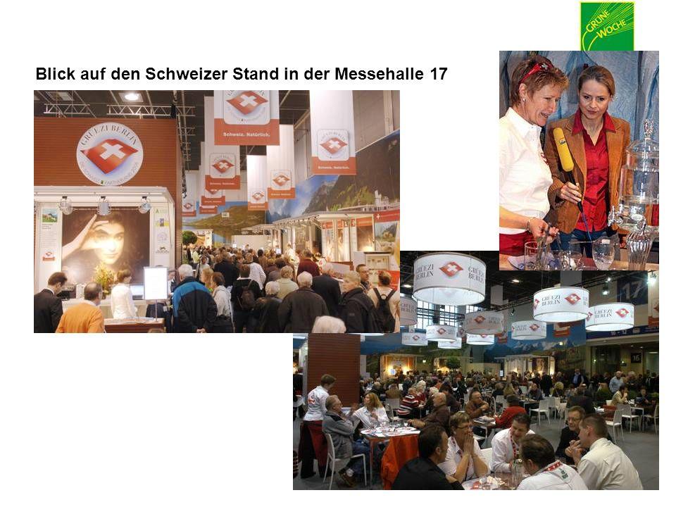 15. – 24. Januar 2010 Blick auf den Schweizer Stand in der Messehalle 17