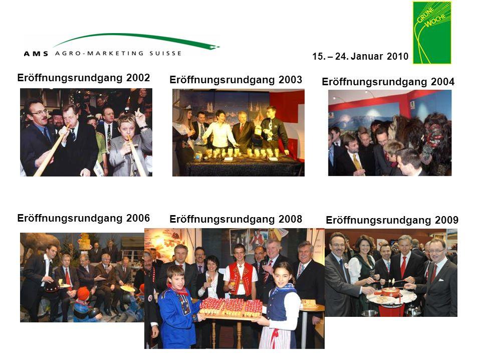 15. – 24. Januar 2010 Eröffnungsrundgang 2002 Eröffnungsrundgang 2004 Eröffnungsrundgang 2003 Eröffnungsrundgang 2006 Eröffnungsrundgang 2009 Eröffnun