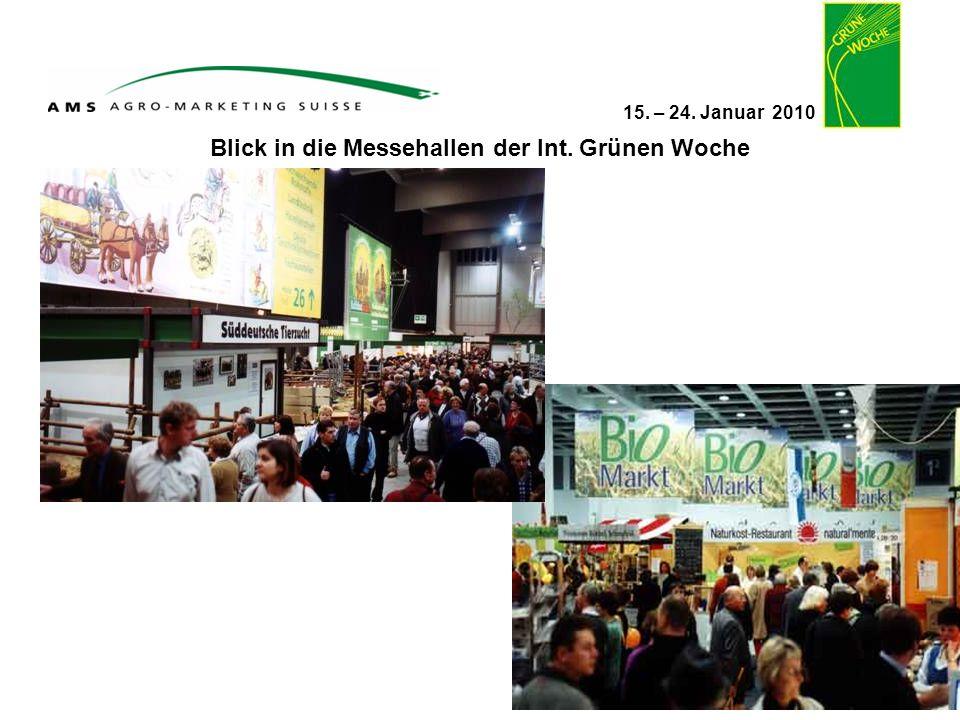 15. – 24. Januar 2010 Blick in die Messehallen der Int. Grünen Woche