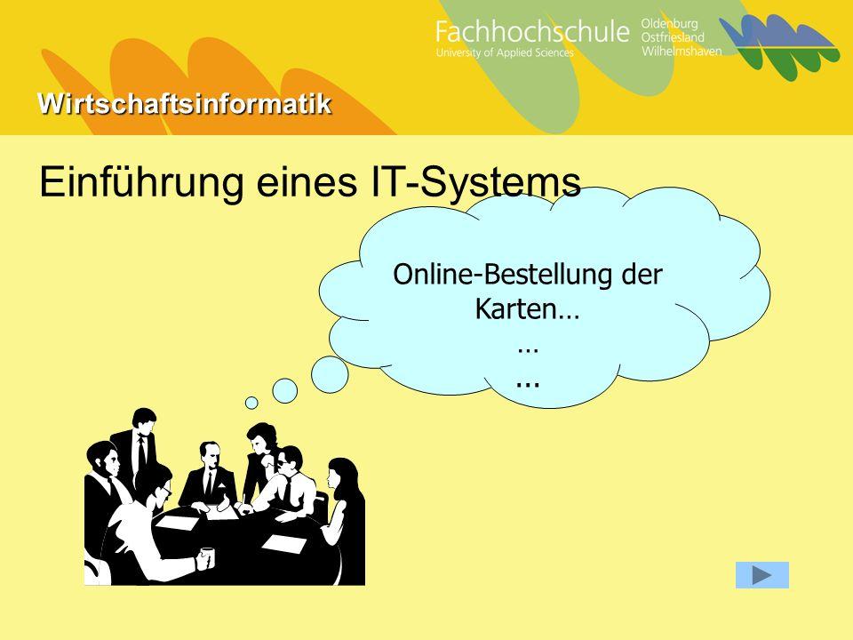 Wirtschaftsinformatik Online-Bestellung der Karten… …... Einführung eines IT-Systems