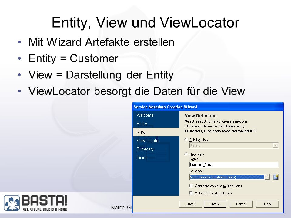 Marcel Gnoth, www.gnoth.net Views erstellen Service Metadata Creation Wizard