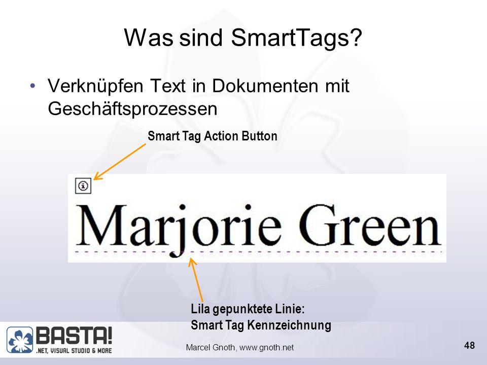 Marcel Gnoth, www.gnoth.net IBF – Smart Tags Ein bisschen Code muss sein!
