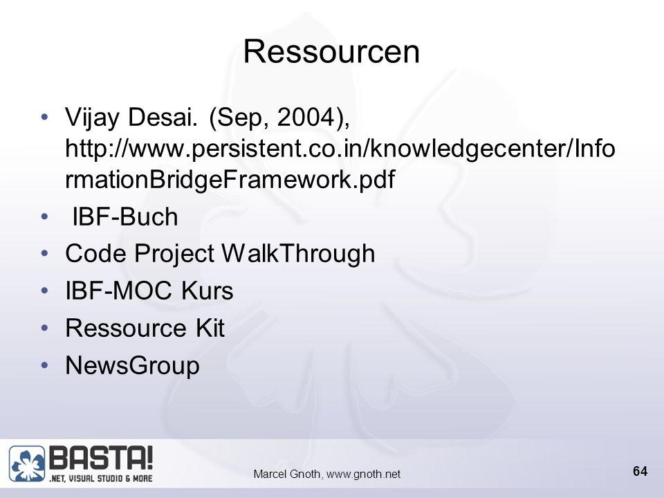 Marcel Gnoth, www.gnoth.net 63 Mendocino Vorgefertigte IBF-Lösungen Mit SAP