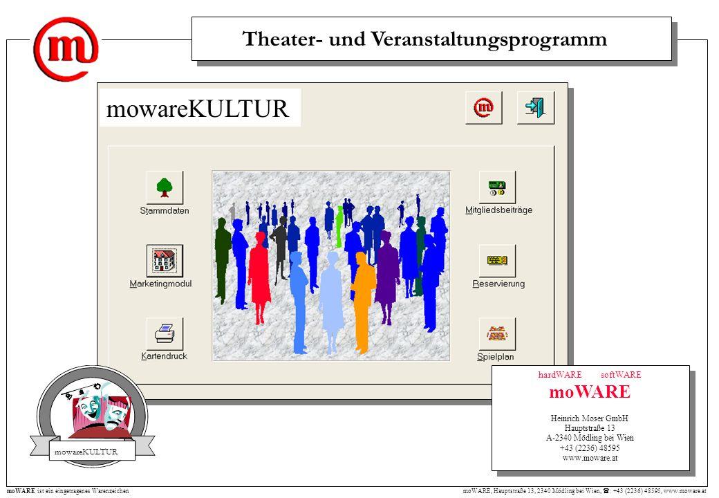 moWARE, Hauptstraße 13, 2340 Mödling bei Wien, : +43 (2236) 48595, www.moware.at moWARE ist ein eingetragenes Warenzeichen hardWARE softWARE moWARE He