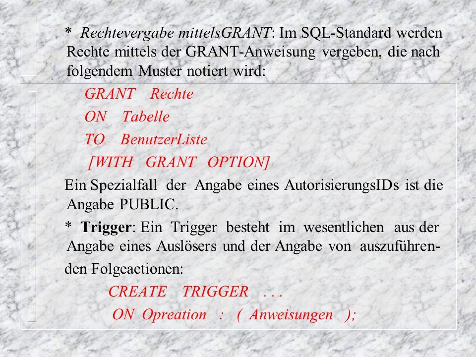 Als Beispiel für den Einsatz von Triggern betrachten wir die Realisierung eines berechneten Attributs durch Trigger.