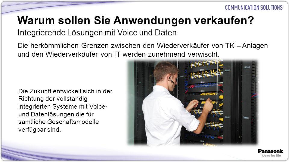 17 Warum sollen Sie Anwendungen verkaufen? Integrierende Lösungen mit Voice und Daten Die herkömmlichen Grenzen zwischen den Wiederverkäufer von TK –