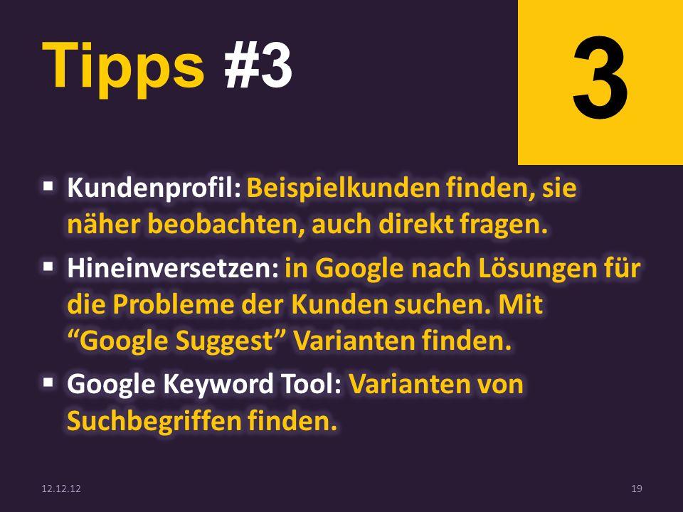 Tipps #3 12.12.1219 3