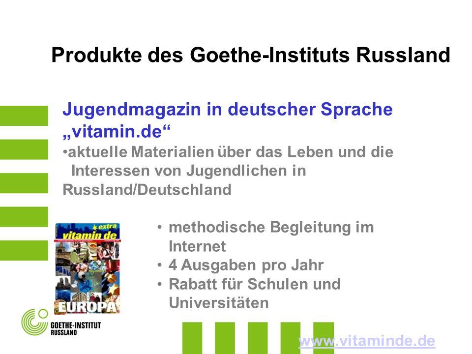 Jugendmagazin in deutscher Sprache vitamin.de aktuelle Materialien über das Leben und die Interessen von Jugendlichen in Russland/Deutschland methodis