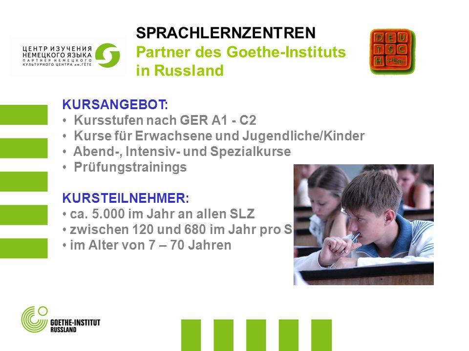 KURSANGEBOT: Kursstufen nach GER A1 - C2 Kurse für Erwachsene und Jugendliche/Kinder Abend-, Intensiv- und Spezialkurse Prüfungstrainings KURSTEILNEHM