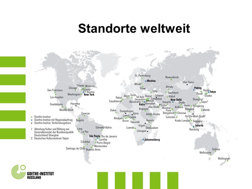 Netzwerkseminare mit DaF-Experten aus Deutschland vor Ort Themenbereiche: Methodik/Didaktik Früher Deutschunterricht Neue Medien im Deutschunterricht www.goethe.de/russlandwww.goethe.de/russland >>> Deutsch lehren >>> Fortbildung >>> Fortbildung in Russland Aktuelle Angebote für Schulen