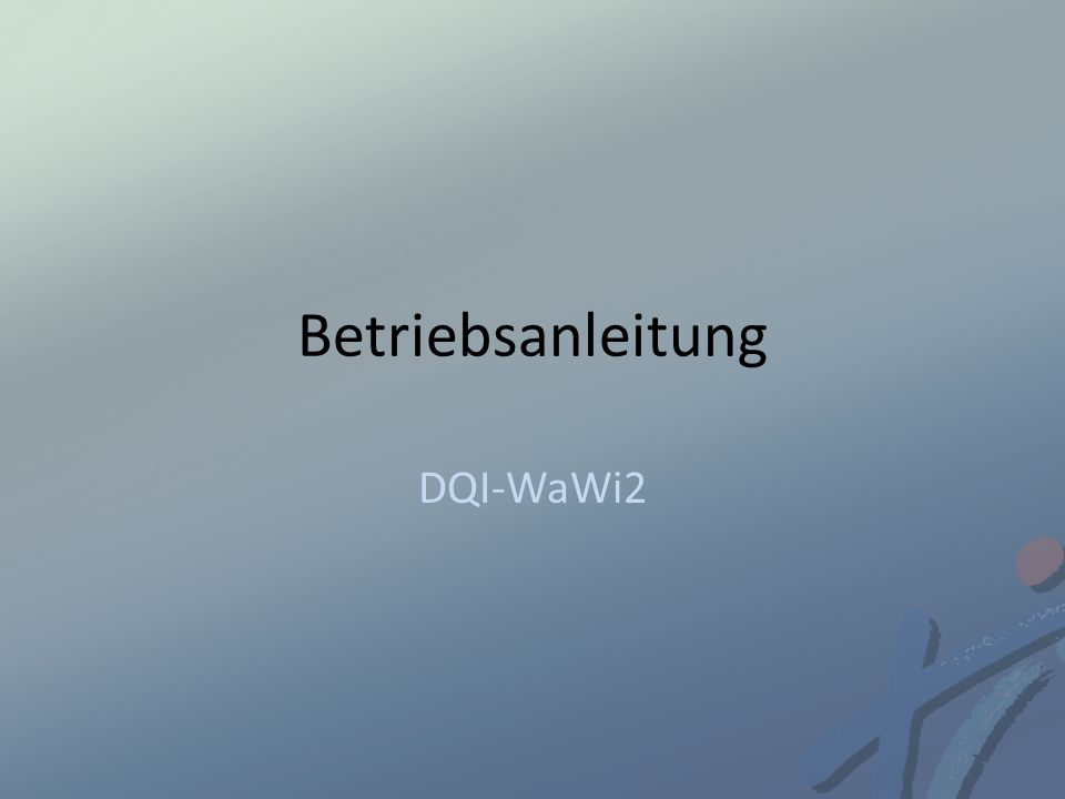 Betriebsanleitung DQI-WaWi2