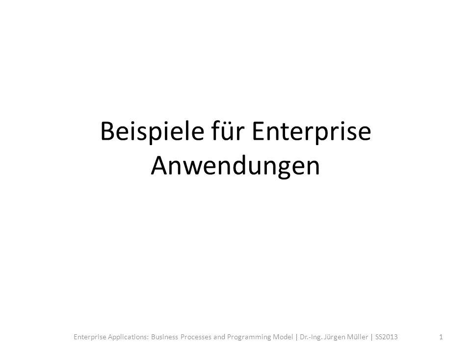 Anwendungsgebiete Klassische Domäne – ERP, SCM, CRM, etc.