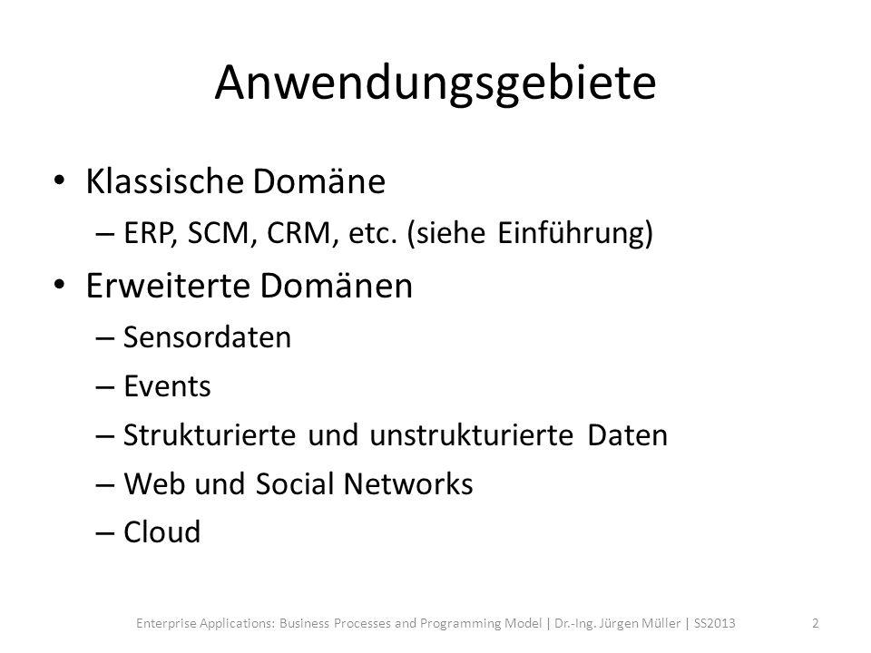Klassische Domäne – SAP ByDesign End-to-End Geschäftsprozesse Front Office Back Office Delivery 3Enterprise Applications: Business Processes and Programming Model | Dr.-Ing.
