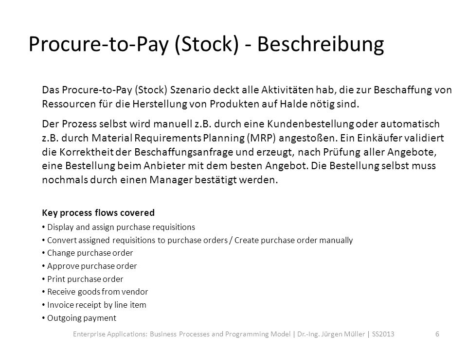 Procure-to-Pay (Stock) - Workflow 7