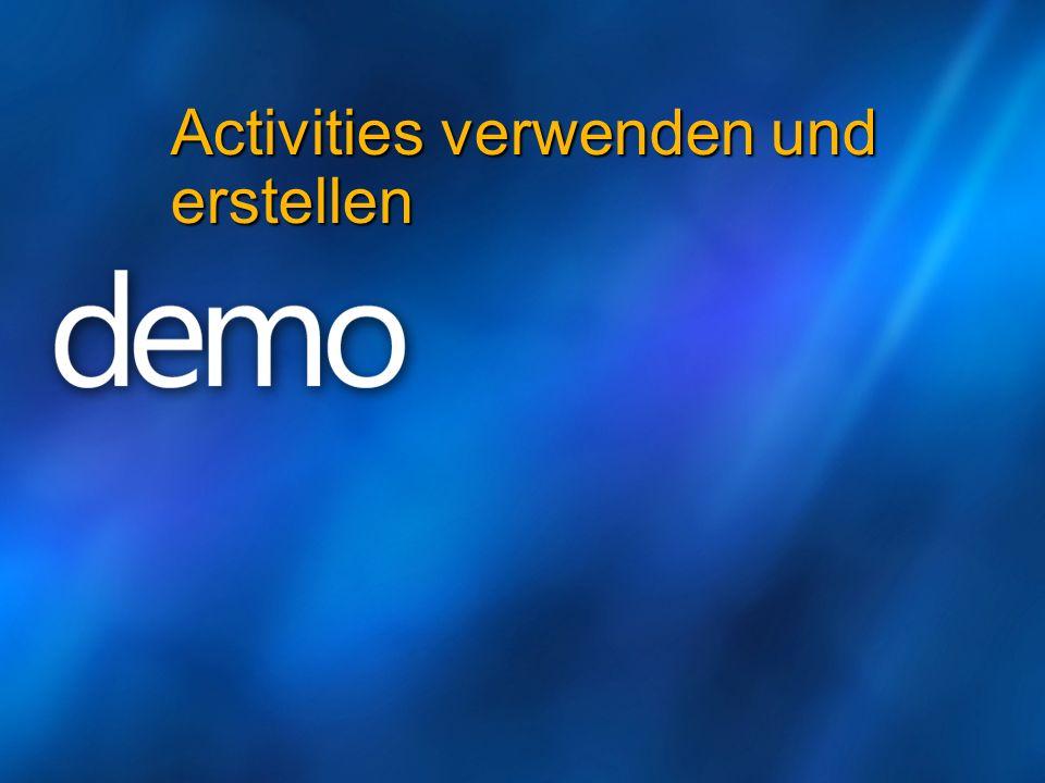 Activities verwenden und erstellen