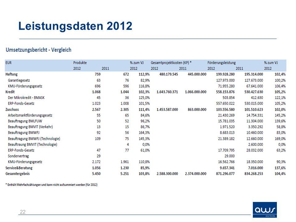 Leistungsdaten 2012 22