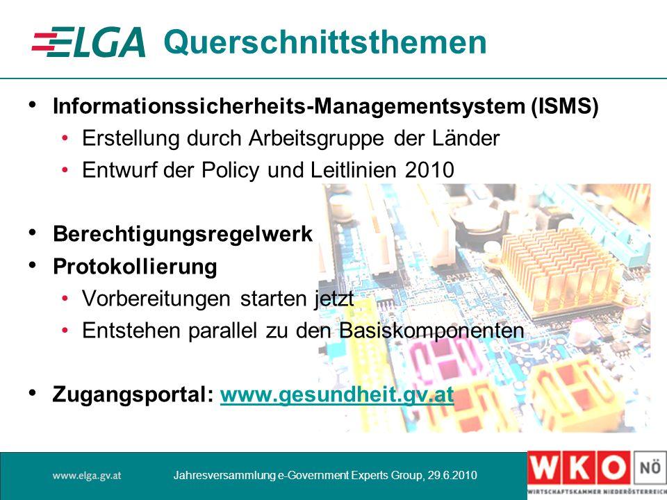 Querschnittsthemen Informationssicherheits-Managementsystem (ISMS) Erstellung durch Arbeitsgruppe der Länder Entwurf der Policy und Leitlinien 2010 Be