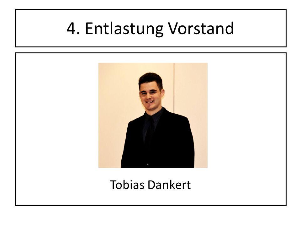 4. Entlastung Vorstand Tobias Dankert
