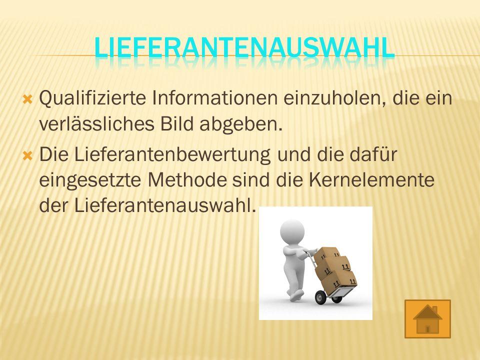 Qualifizierte Informationen einzuholen, die ein verlässliches Bild abgeben.