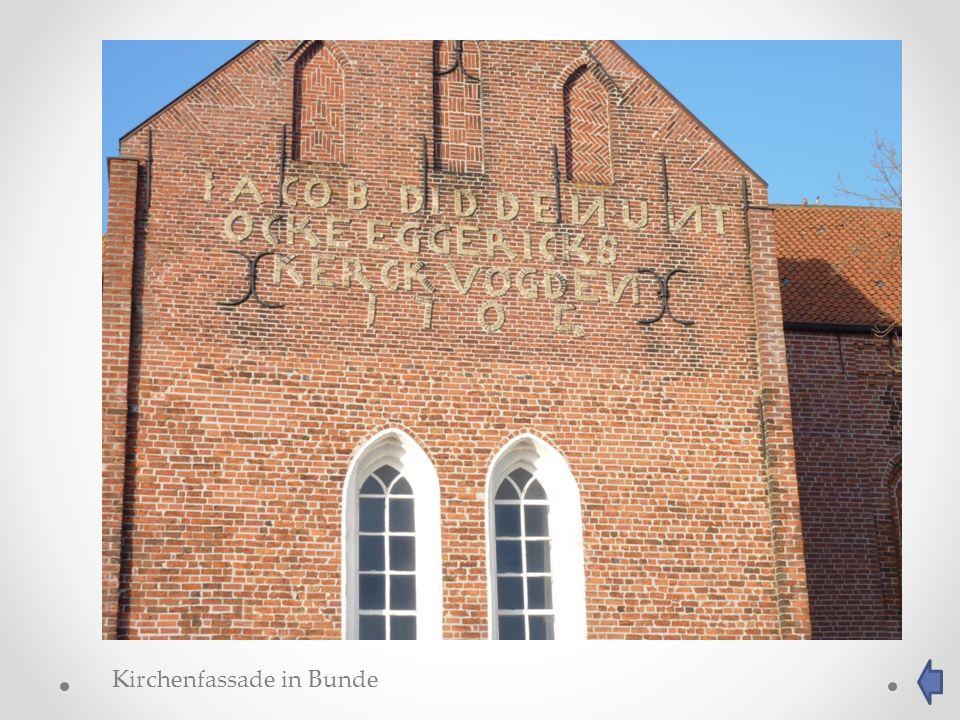 Kirchenfassade in Bunde
