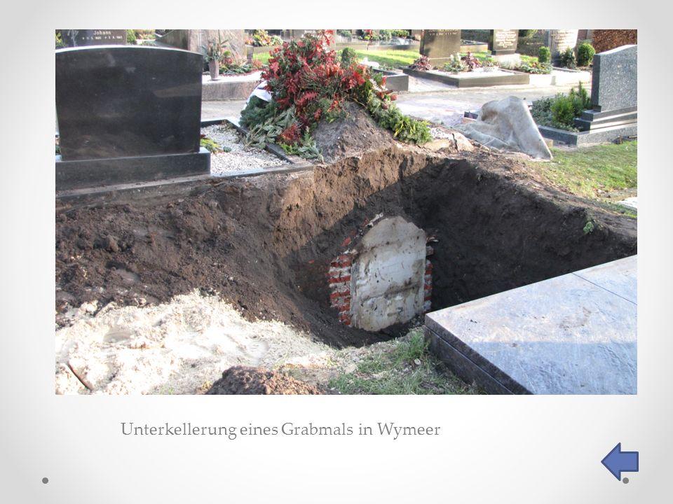 Unterkellerung eines Grabmals in Wymeer