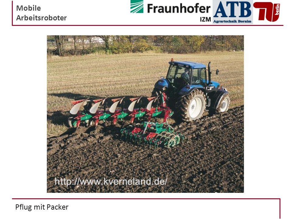 Mobile Arbeitsroboter Pflug mit Packer http://www.kverneland.de/