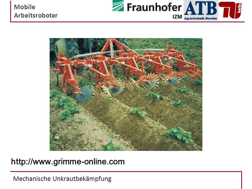 Mobile Arbeitsroboter Mechanische Unkrautbekämpfung http://www.grimme-online.com