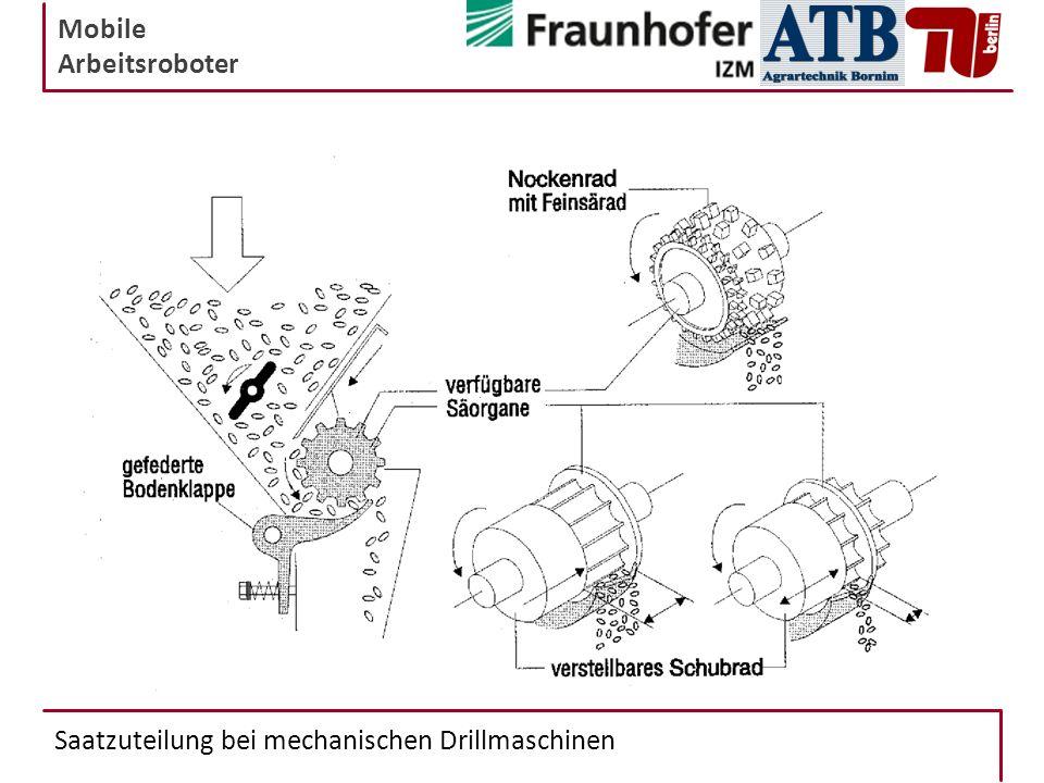 Mobile Arbeitsroboter Saatzuteilung bei mechanischen Drillmaschinen