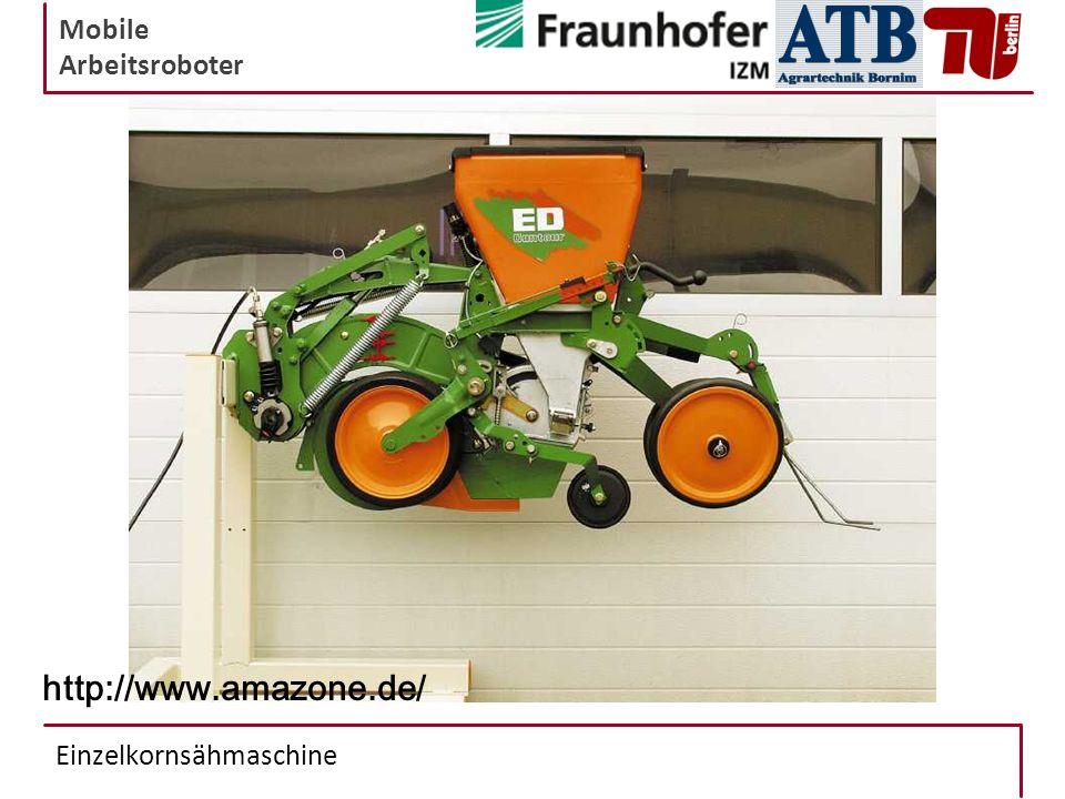Mobile Arbeitsroboter Einzelkornsähmaschine http://www.amazone.de/