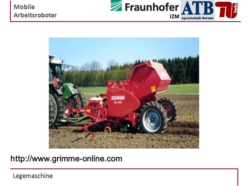 Mobile Arbeitsroboter Legemaschine http://www.grimme-online.com