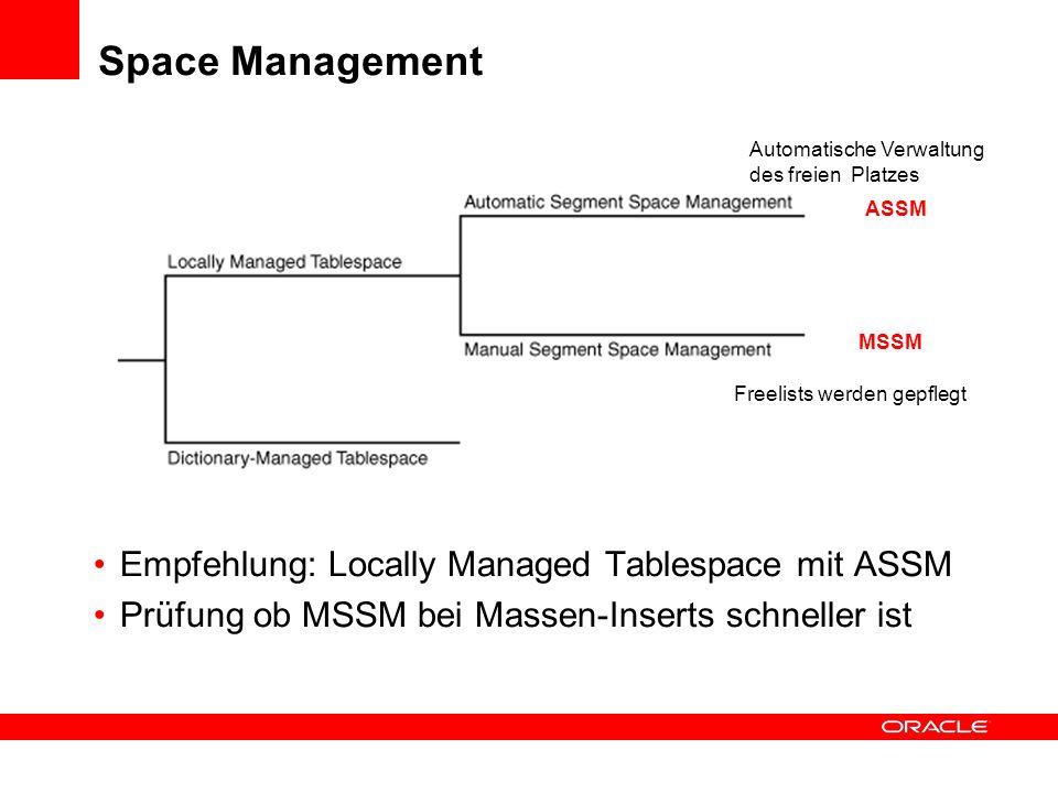 Direct Path / Convential Path Convential Path Commits Reuse Free Space in Blöcken Constraint Checks Immer Undo Data / Logging Daten zunächst immer in