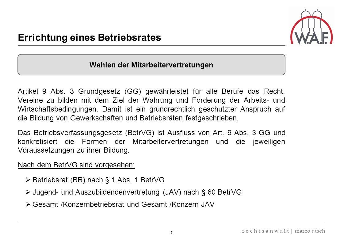 6.57 8.69 13,32 13.24 13,32 13.24 6.12 9.77 14 r e c h t s a n w a l t   marco utsch Für die Betriebsratswahl ist entscheidend, wer als Arbeitnehmer des Betriebs gilt.
