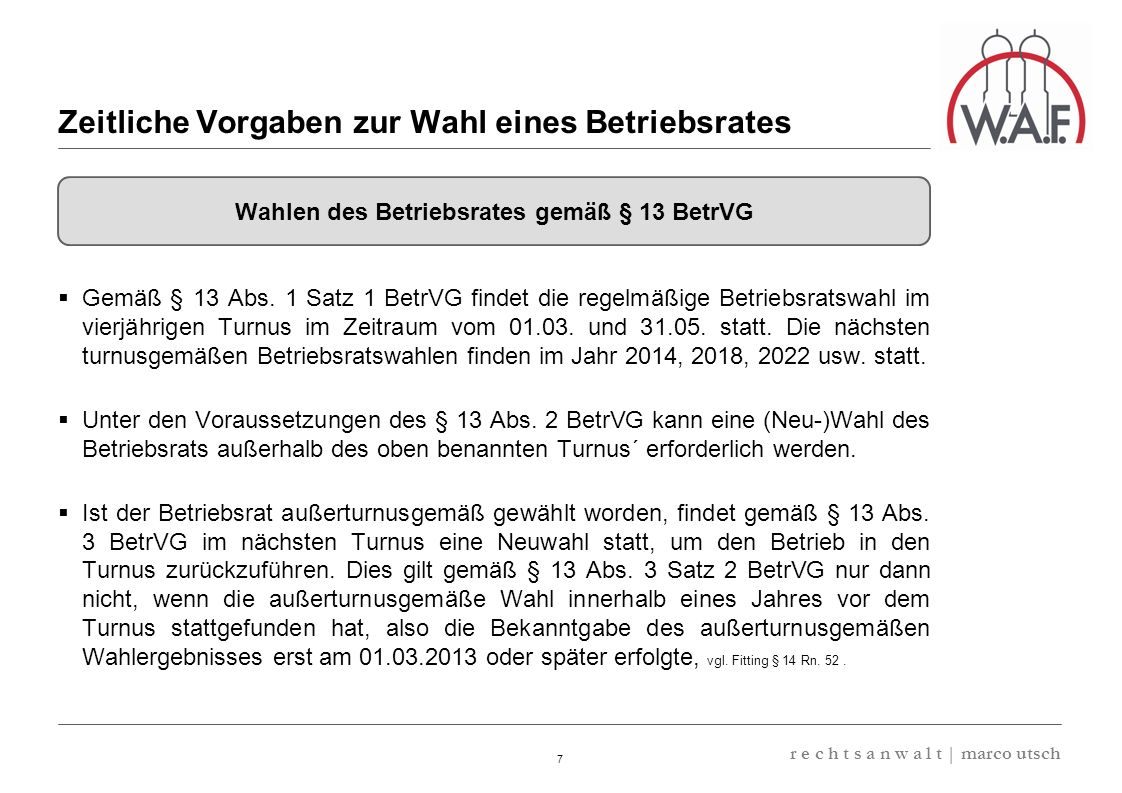 6.57 8.69 13,32 13.24 13,32 13.24 6.12 9.77 8 r e c h t s a n w a l t   marco utsch Gemäß § 16 Abs.