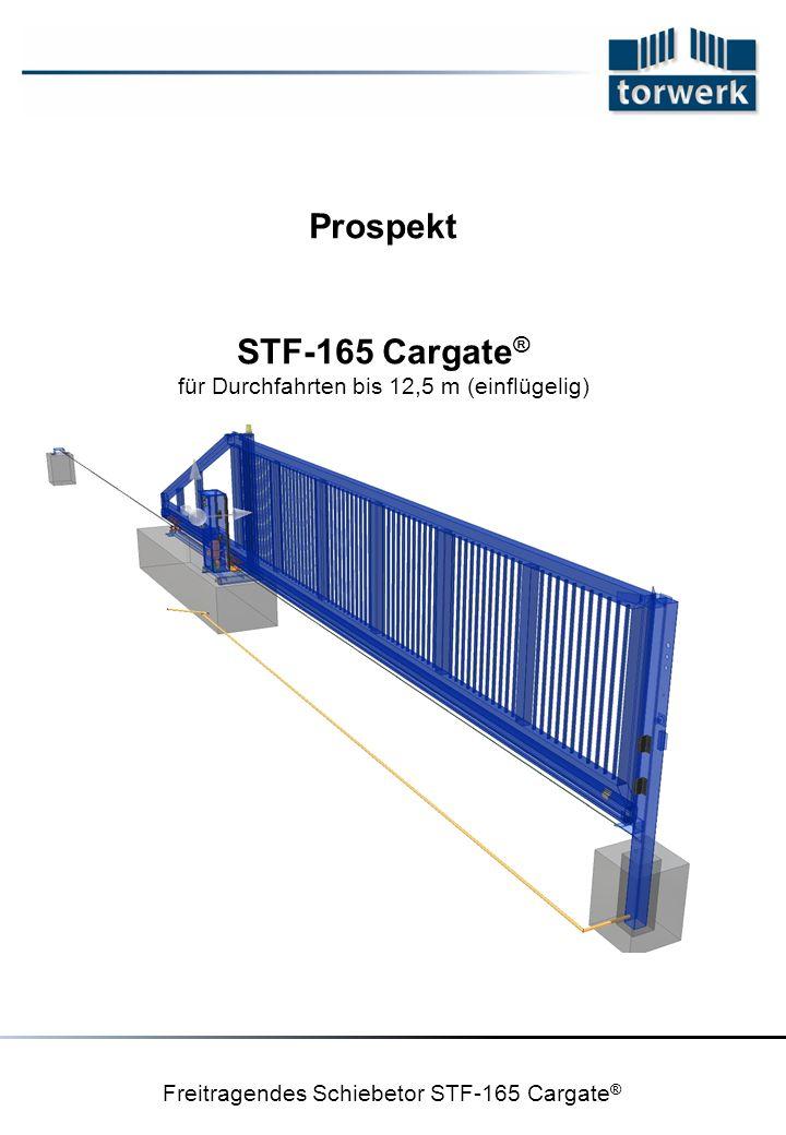 Freitragendes Schiebetor STF-165 Cargate ® Prospekt STF-165 Cargate ® für Durchfahrten bis 12,5 m (einflügelig)
