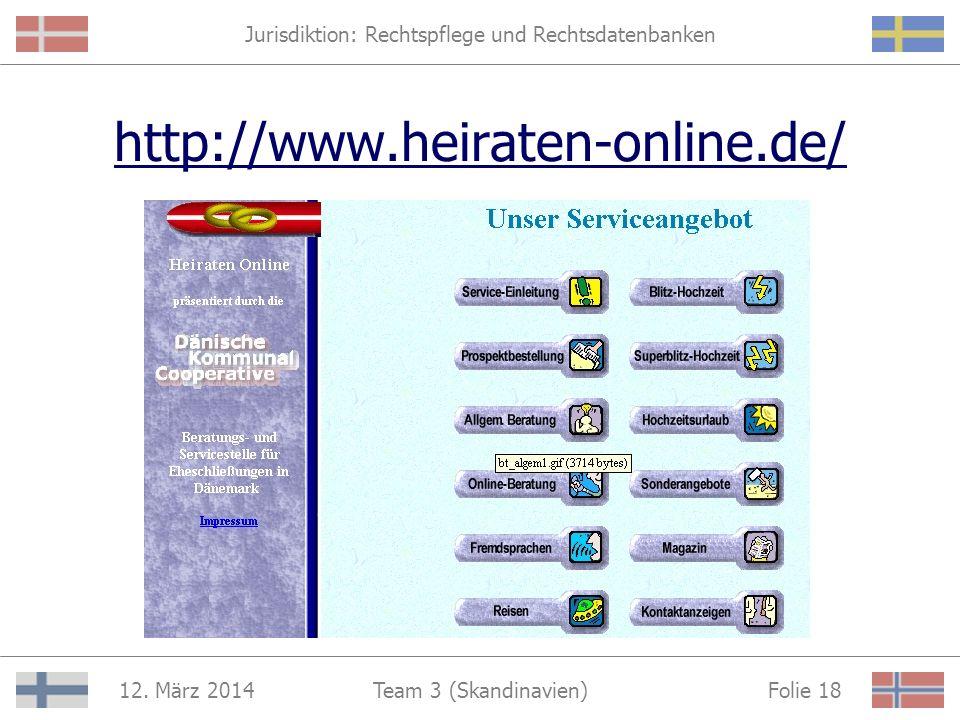 Jurisdiktion: Rechtspflege und Rechtsdatenbanken 12. März 2014 Folie 17Team 3 (Skandinavien) Juristisches Internet-Shopping in Dänemark Fachtexte könn