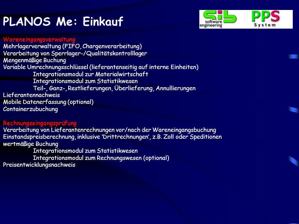 PLANOS Me: Einkauf Weiterverarbeitung mit variabler Formularanzahl und Aufbau; weitere Formulare möglich; Faxintegration / Archivierung / Spool Anfrag