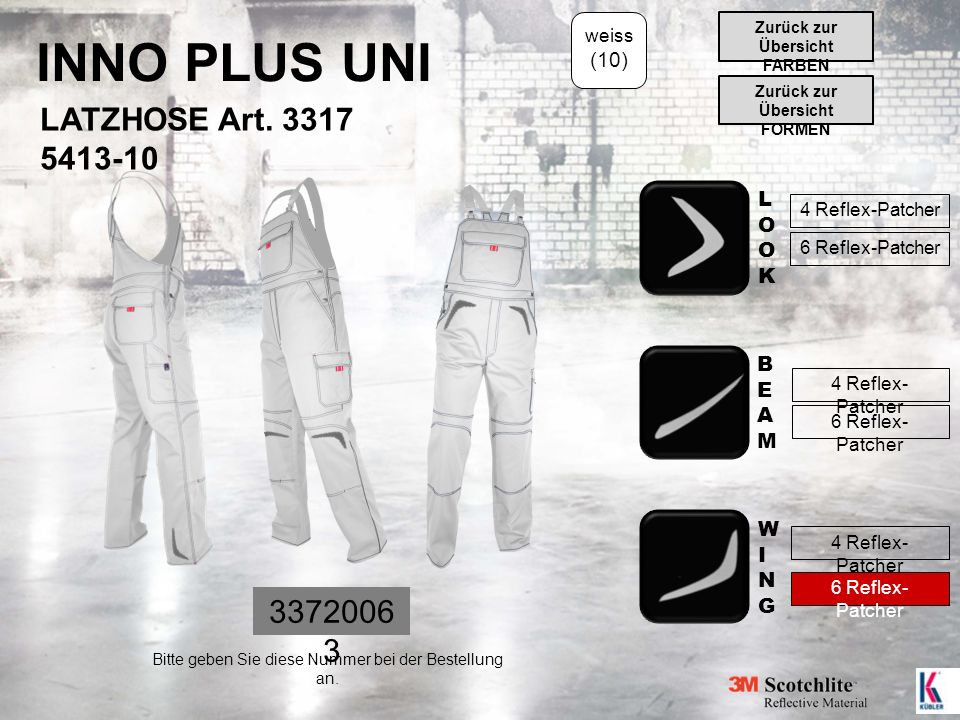 INNO PLUS UNI LATZHOSE Art.
