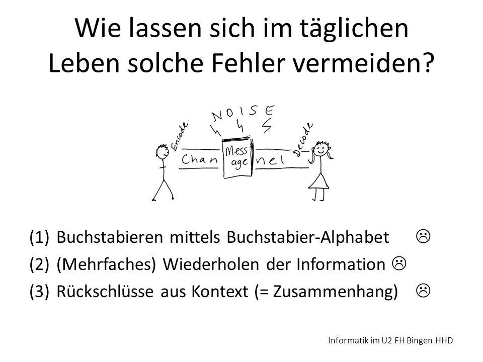 Barcode-Codierung http://www.barcodesinc.com/generator/index.php Informatik im U2 FH Bingen HHD